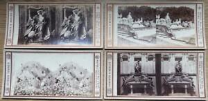 Sommer & Behles Set of 4 Antique 1870 Italian Stereoscopic Stereoview Cards (a)