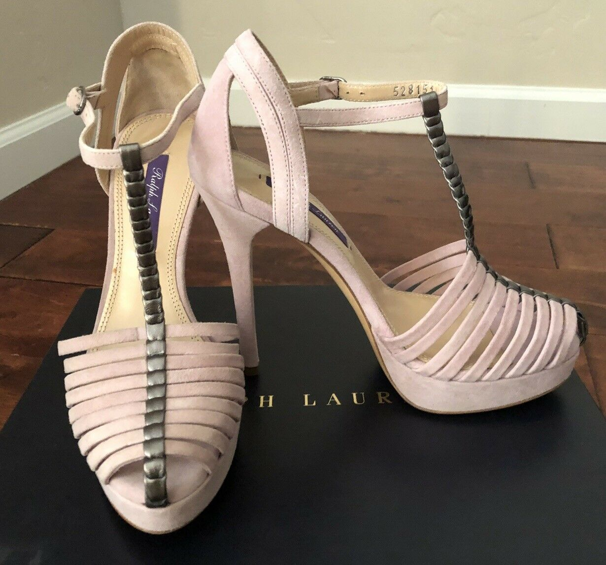 nuovo di marca NIB  795 RALPH LAUREN JEAMA JEAMA JEAMA SUEDE COLLECTION HEELS, SZ 36, MADE IN ITALY  outlet online