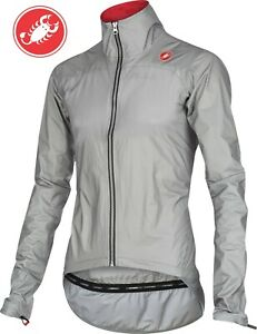Castelli Tempesta Men's eVent Cycling Rain Jacket Grey Size Large : SEE Video