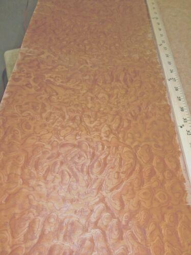 "Sapele Pommele Figured Quilted Burl composite wood veneer 24/"" x 96/"" raw 1//42/"""