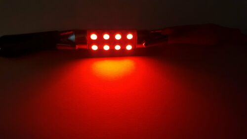 20X 39mm 1210 8 LED Festoon Dome Lighting Car Interior Reading Light 12V RED