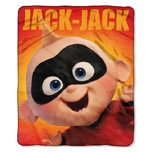 Disney Pixar The Incredibles 2 Jack-Jack Silky Soft throw blanket RARE 52 x 64