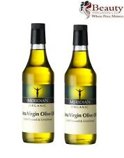 2 x Meridian ORGANIC Extra Virgin Olive Oil (Cold Pressed) 500ml