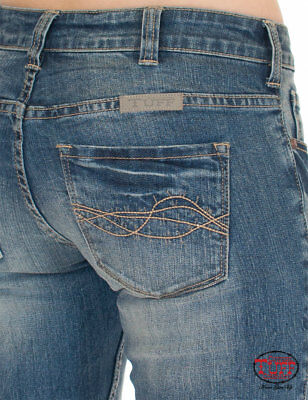 Cowgirl Tuff Women/'s Set Me Free Medium Wash Boot Cut Jeans JMFREE  SALE!!