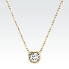 1 ct real 14k solid yellow gold round bezel set solitaire pendant 1 ct real 14k solid yellow gold round bezel set solitaire pendant necklace chain aloadofball Gallery