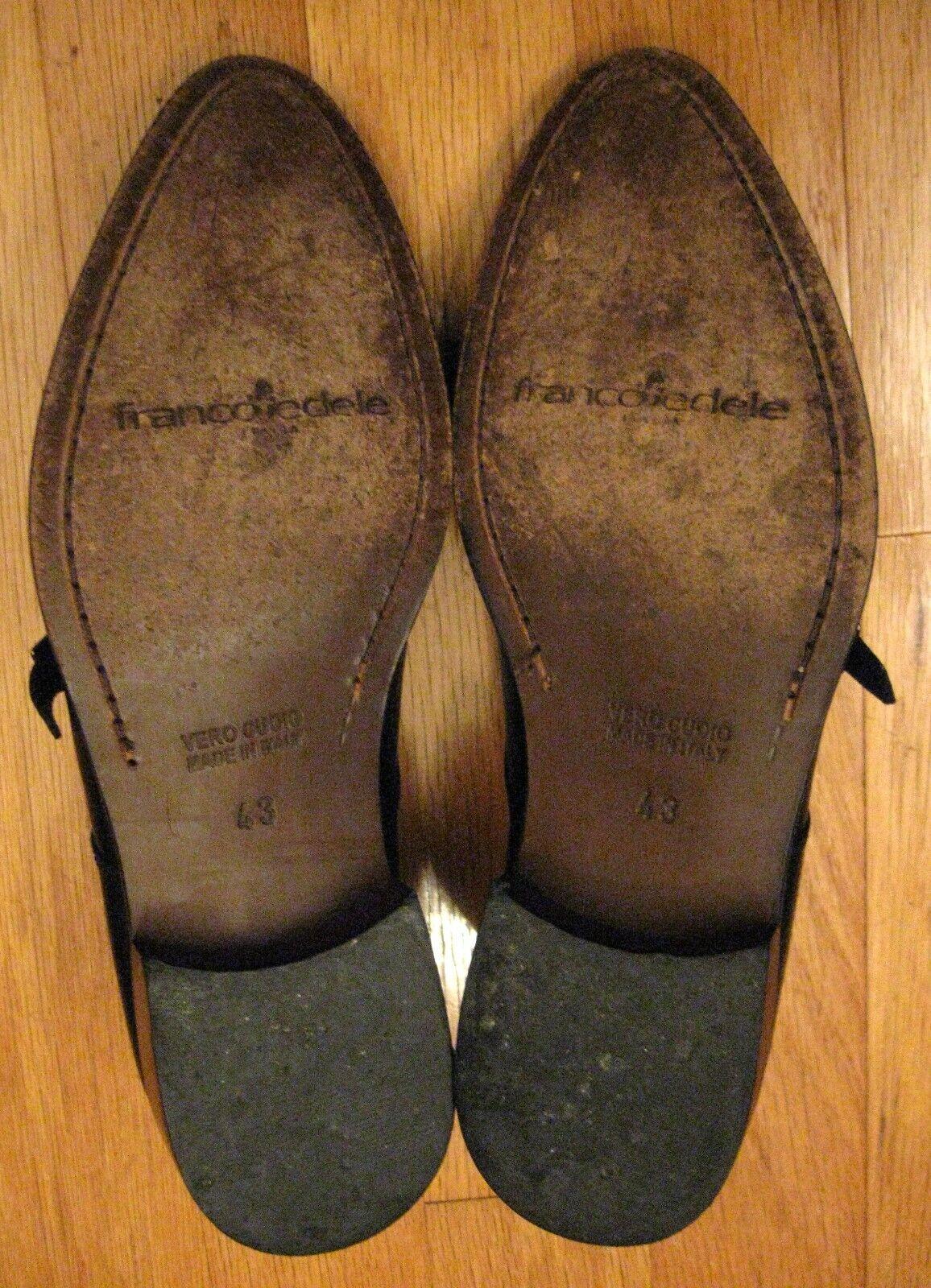 FRANCO FEDELE ITALIA herren schwarz LEATHER DOUBLE MONK DRESS schuhe schuhe schuhe Größe 43 e85a32