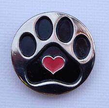 Love Greyhounds Shadow Metal Pin Badge racing whippet grooming dog lovers cruft