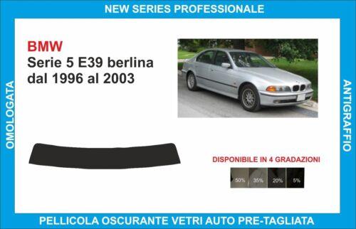 fasce parasole vetri BMW Serie 5 E39 berlina dal 1996 al 2003