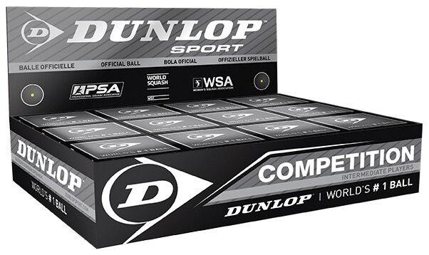 Dunlop Competition Squash Balls (1 Dozen)