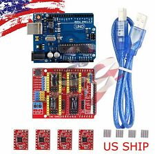 CNC kit #1 UNO R3 ATmega328P ATMEGA16U2 & Shield & 4X A4988 Drivers for Arduino