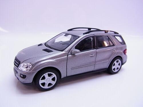 S214Welly MB mercedes benz ml 350 w164 maqueta de coche plata 1:41,5 pull back nuevo