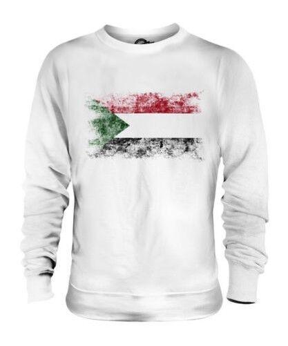 Soudan Drapeau Délavé Unisexe Pull Comme-Soudan Foot Soudanais Cadeau T-Shirt