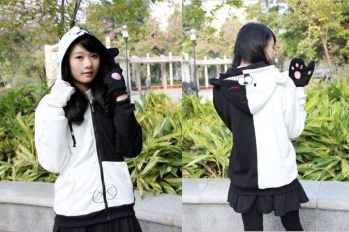 Anime Cos Danganronpa Dangan-Ronpa Mono Kuma Cosplay Hooded Hoodie Sweater #