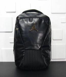 Nike Air Jordan Retro 12 Black/Gold/Red Backpack 9A1773-K25 New Ships Boxed!