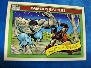 1990 MARVEL UNIVERSE/IMPEL - MARVEL COMICS HULK vs WOLVERINE #113 - NICE