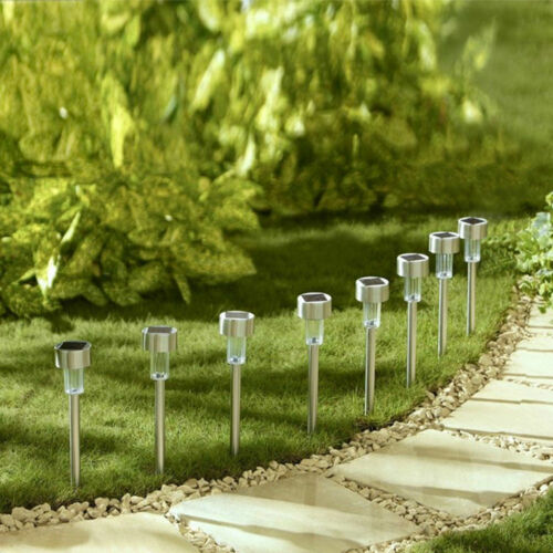 Stainless Steel Solar Lawn Garden Path LED Lamp Outdoor Landscape Spot Light 1PC