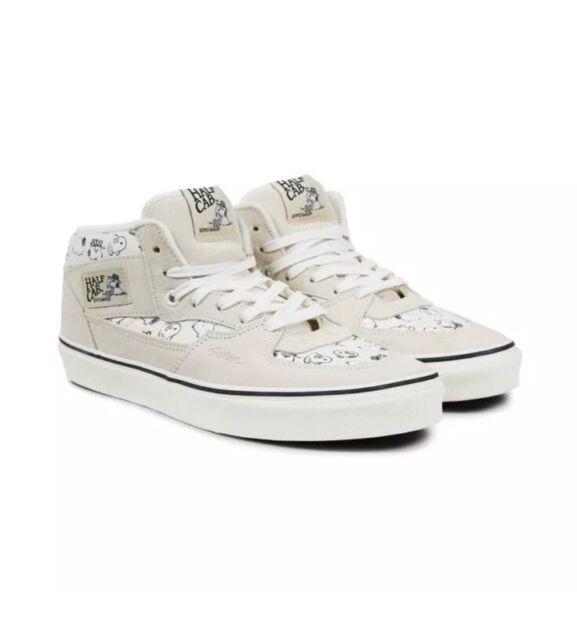 8ce74b0312 Vans Half Cab Peanuts Snoopy Family Marshmallow Men s Skate Shoes Men s SZ  10