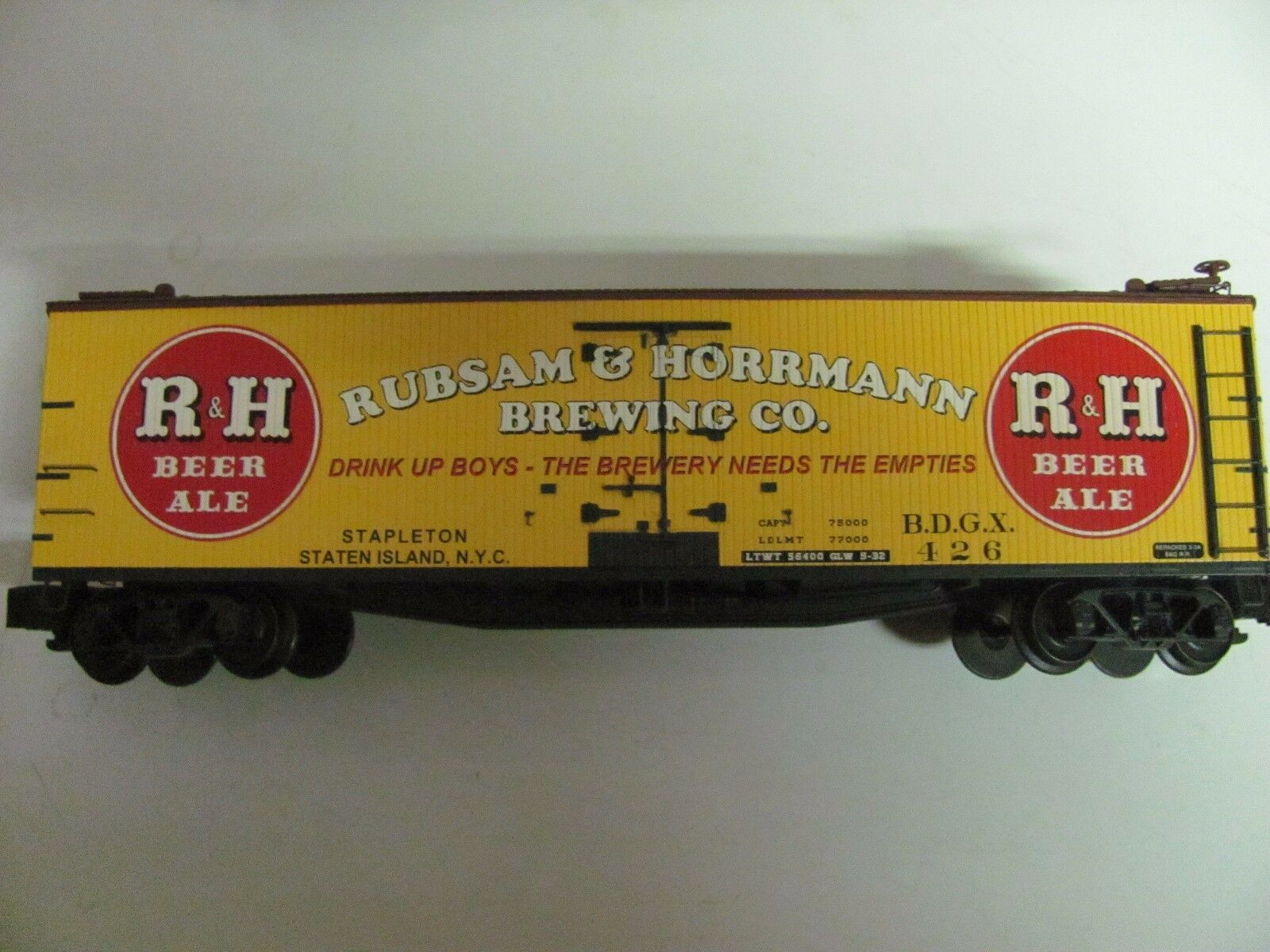 S-Helper R&H Rubsam & Hormann Brewing Co. Beer Reefer S Scale MIB