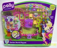 Polly Pocket Garden World Playset With 4 Dolls 40+ Pieces 2009