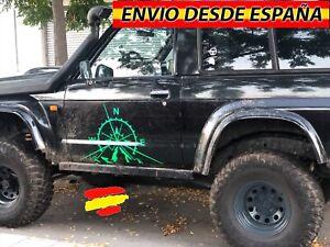 Rosa-De-Vientos-Vinilo-Pegatina-Decal-Coche-Jeep-4x4-Nissan-Renault-Duster