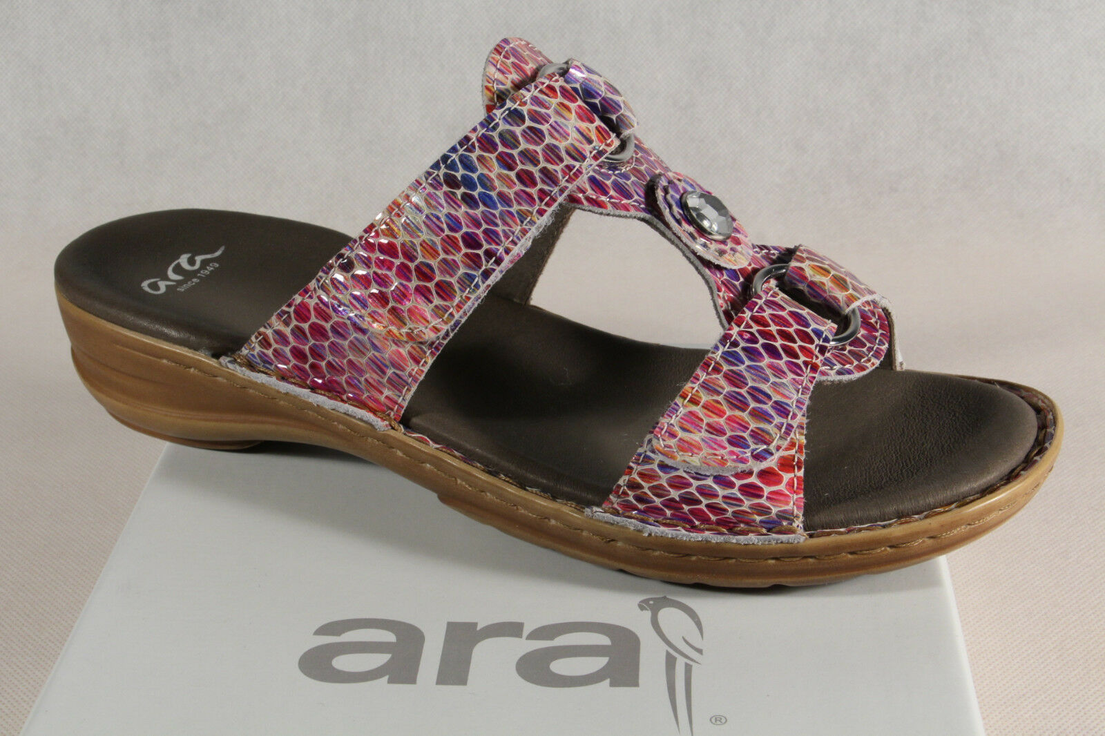 Ara Mules Mules Geniune Leather, Multicolour, Touch Fastener 27273 New