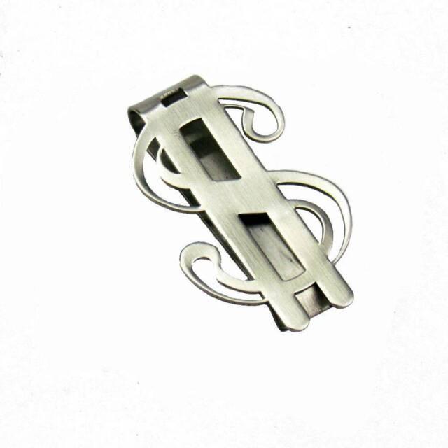 New Money Slim Clip Stainless Steel Dollar Design Cash Bills Credit Card Holder