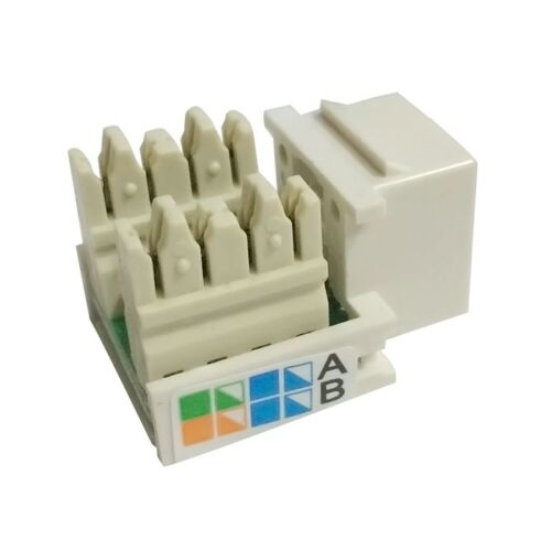 RJ45 CAT5e Keystone Jack Ethernet Network Module Wall End Plug Connector new