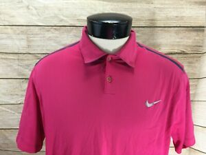 Nike-Golf-Polo-Shirt-Womens-L-Pink-Triple-Crown-Country-Club-Tour-Performance