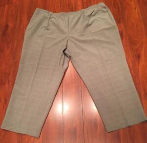 Women\'s Brown/Sage Green Dress Pants Plus Size 26W Elastic Waist | eBay