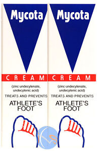 2-x-Mycota-Athletes-Foot-Cream-25g-Treatment-for-Athletes-Foot-Antifungal-Crea