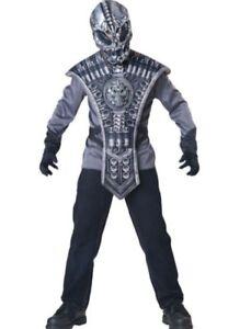 Image is loading Alien-Costume-Kids-Scary-Halloween-Boys-In-Character-  sc 1 st  eBay & Alien Costume Kids Scary Halloween Boys In Character Size 6+ Gray ...