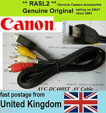 Original Canon AV Stereo Cable  4076B001 SD4500 is IXUS 1000 310 1100 HS