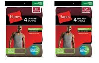 8 Hanes Best Seller Men's Ribbed A-shirt Wife Beater Assorted Colors
