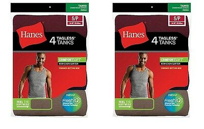14Pk Hanes Mens White A-Shirt Tank Wife Beater Value Pack Size S-to-XL