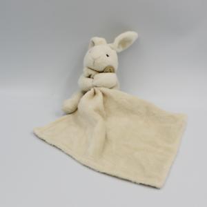 Doudou Lapin blanc écru avec mouchoir Doudou et compagnie - Lapin Mouchoir