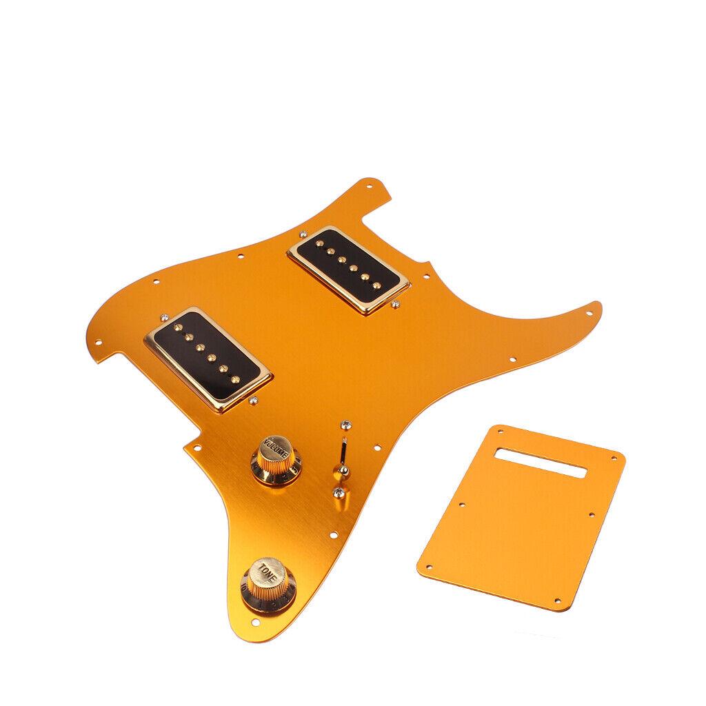 3-lagiger Gitarren Pickguard mit Rückplatte Pickup P90 für