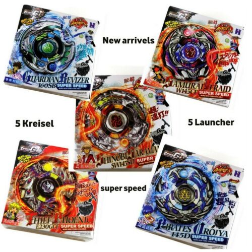 5x 4D kreisel  für Beyblade Metall Fusion Metall Masters Burst Zero Set ZeroG
