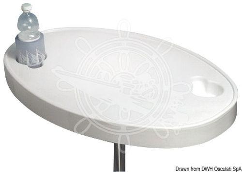 Osculati Tisch weißem ABS cm oval 77 x 5 cm ABS 8d2932