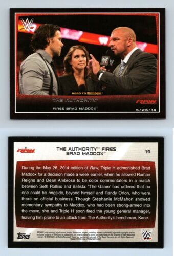 Brad Maddox #19 WWE Road to combat 2015 TOPPS TRADING CARD