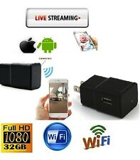 New Release 32GB WiFi Spy Hidden Camera Power Adapter 1080P DVR Recorder