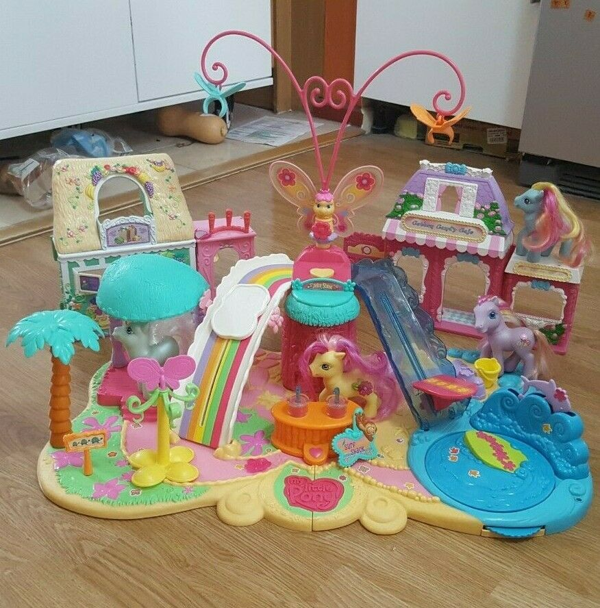 My Little Pony Summer Party B Play Set Sand With Shops Ponies Vintage Rare