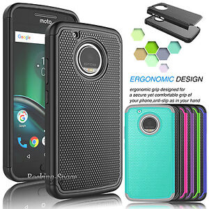 best service b2d3e f0319 Details about For Motorola Moto X 2017 / Moto G5 Plus Hybrid Shockproof  Armor Phone Case Cover