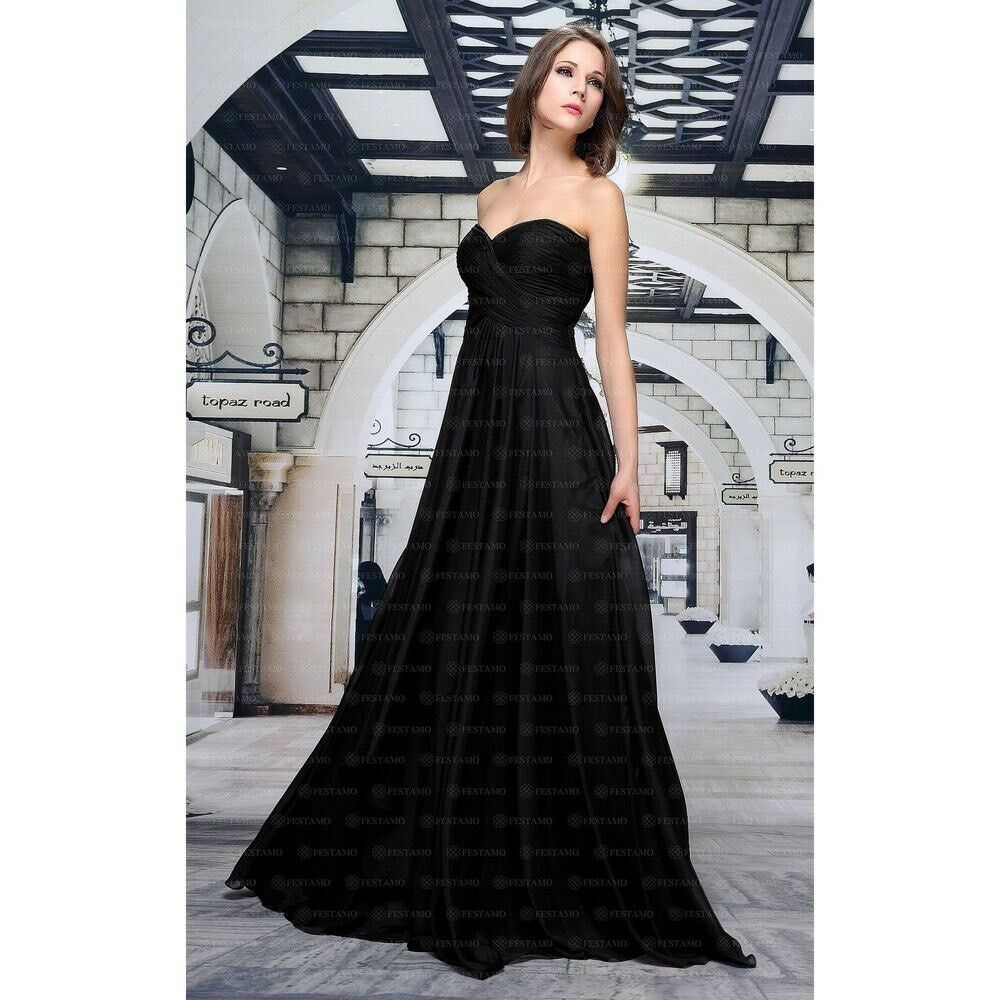 Abendkleid Ballkleid Kleid Designerkleid von Festamo in schwarz, Gr. 32 38 40
