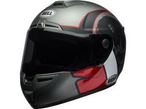 Casque-moto-route-integral-BELL-SRT-Hart-Luck-Skull-Charcoal-blanc-rouge