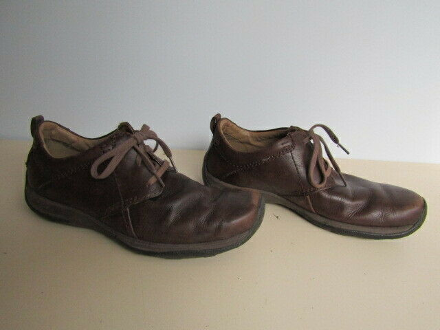 Clarks Active Air Brown Leather Mens Shoes Size 8.5 G Lace Up Retro Smart Casual