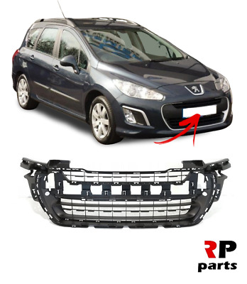 Peugeot 308 2011-2013 Front Main Centre Grille Inner Black Closed Version New