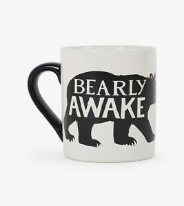 Hatley-Funny-Ceramic-Coffee-Mug-CLASSIC-BEARLY-AWAKE-14-oz-Black-Bear