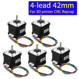 5Pcs-Nema-17-Stepper-Motor-Schrittmotoren-42mm-4-lead-1-7A-1-8-Fuer-3D-Printer