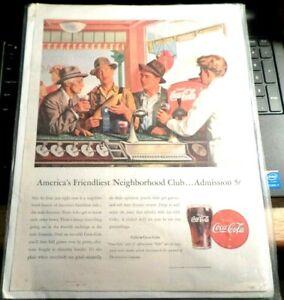 Details about Vintage COCA COLA 1946 Ad 5 Cent Coke Soda Fountain 14