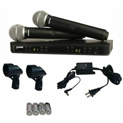 shure blx288 pg58 dual pg58 handheld microphone wireless system new make offer 42406470223 ebay. Black Bedroom Furniture Sets. Home Design Ideas
